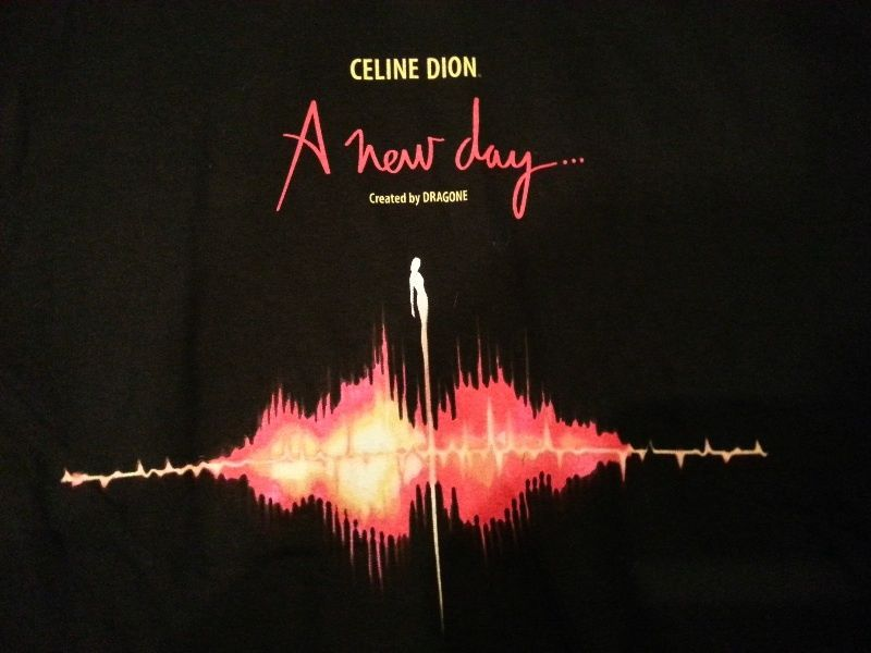 """Celine Dion """"A new day"""" created by dragone T shirt black XL image 2"""