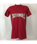 Majestic Washington Nationals MLB Rafael Bautista #9 Mens Shirt Red Size... - $14.96