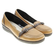 Rockport Janessa K55701 Womens Tan Leather Loafers size 8  - $18.76