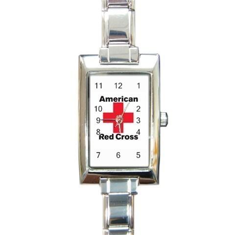 Ladies Rectangular Italian Charm Watch American Red Cross Gift model 32879292