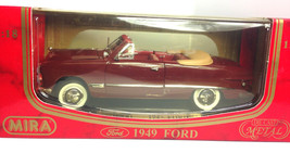 Mira 1949 Ford Burgandy DIECAST SCALE 1:18 - $27.50