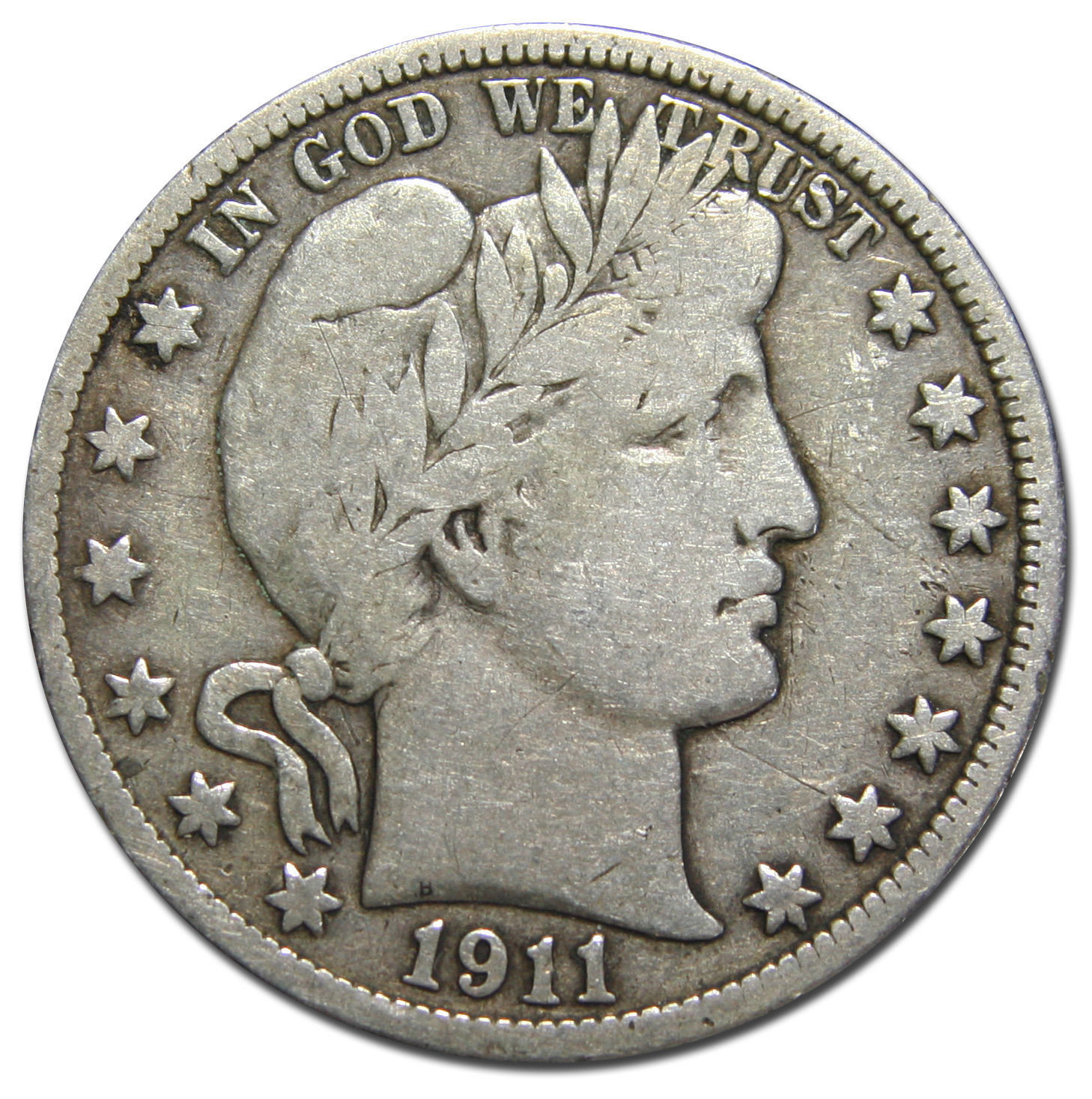 1911 Liberty Barber Head Half Dollar 50¢ Silver Coin Lot MZ 3141