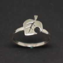 Sterling Silver Animal Crossing New Leaf Ring - $52.00