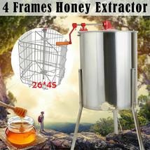 Stainless Steel Large 4 Frame Honey Extractor Manual Beekeeping Equipmen... - $189.99