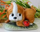 Vintage spaniel dog lego puppy ladybug porcelain figurine thumb155 crop