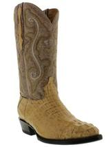 Mens Genuine Sand Alligator Hornback Leather Western Cowboy Boots J Toe - £175.03 GBP