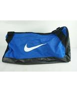 Nike Blue Black Gym Shoulder Bag 25 x 12 Duffle Double Handle Over Night - $28.02