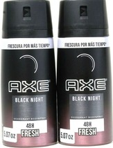 2 Count Axe 5.07 Oz Black Night 48 Hr Fresh Deodorant Body Spray BB 10/2021 - $19.99