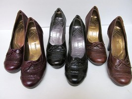 NINE WEST Pump Shoes Spectator Look Stacked Heel 3 Colors To Choose From... - €26,30 EUR