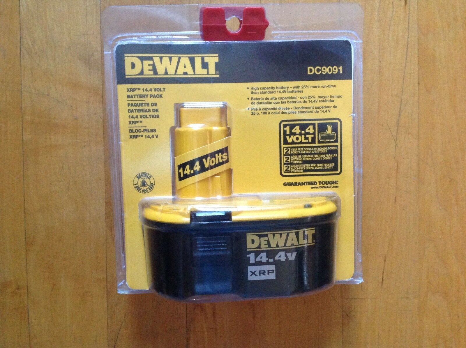 DeWALT DC9091 14.4V 2.4 Amp Hour XRP Cordless Tool Rechargeable Battery New image 4