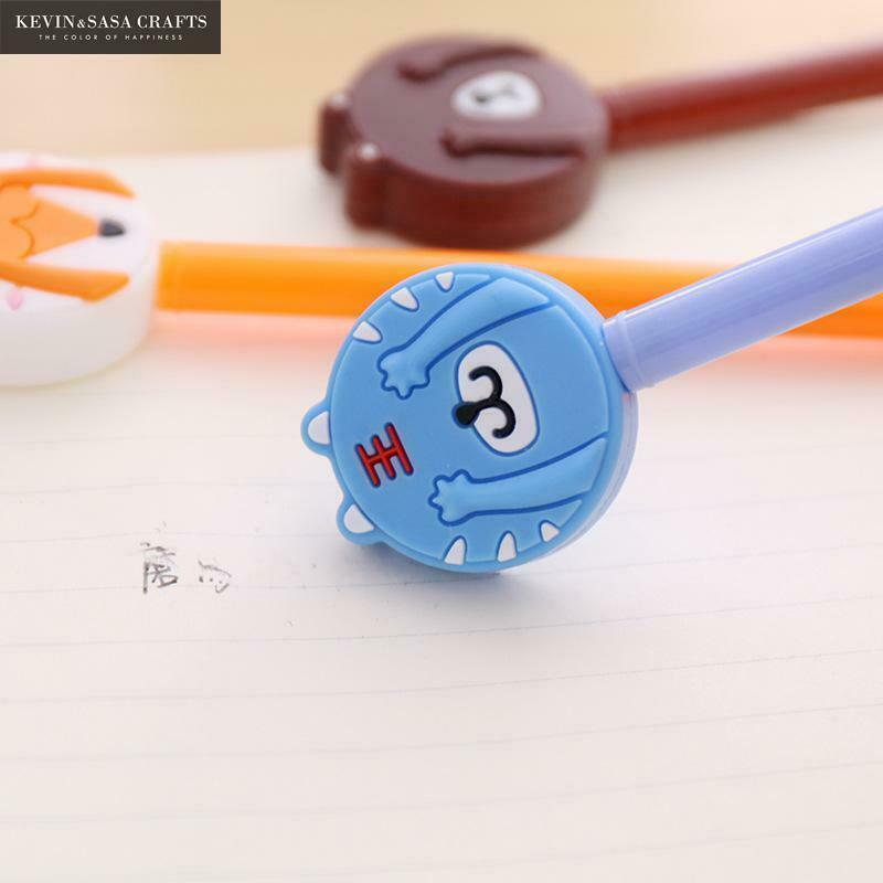KEVIN&SASA CRAFTS® 4Pc/Set Gel Pen Kawaii Stationary Pens Erasable Cute Pen