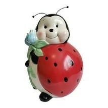 "Burton and Burton Ladybug with Flowers Cookie Jar 9.5"" - $43.49"