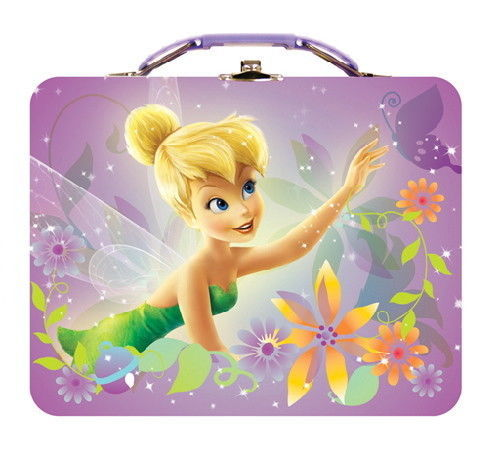Walt Disney's Tinker Bell Large Carry All Tin Tote Lunchbox Style B NEW UNUSED