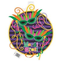 "Mardi Gras! Party 16.5"" Cut Out Decoration Decor Double Sided - $4.99"