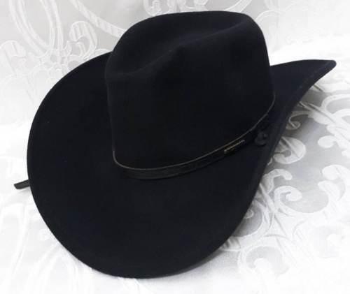 Stetson Crushable Glacier Black Wool Hat Sz.S Cowboy Western Hat Water Repellent