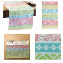 Spring Table Decor Cotton Table Runner Colorful Dining Decor Party Weddi... - $19.79
