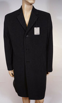 Hickey Freeman Men Charcoal Grey Wool Cashmere Jacket Over Coat Topper 42R - $159.99