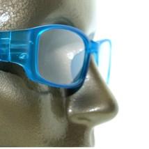 Reading Glasses Sleek Rectangle Spring Hinge Frame Frosted Matte Aqua Blue +1.75 - $18.00