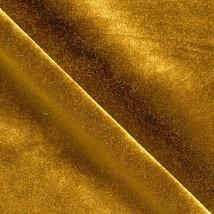 Stretch Velvet Knit Dark Gold Fabric By The Yard - $10.64