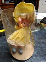 Knickerbocker Small Hard Plastic Jointed Doll yellow dress blue eyes min... - $29.69