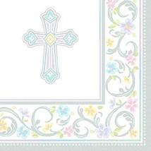 """Blessed Day Religious Party Beverage Napkin Tableware, Paper, 5"""" x 5"""", P... - $15.63 CAD"""