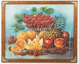 Antique Framed Lithograph Print Fruit Still Life - $193.04