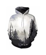Autumn Winter Men/women Thin Sweatshirts With Hat 3d Print Trees Hooded - $25.00