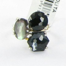 Ippolita Rock Candy Three Stone Cluster Ring Black Tie Sterling 925 NWT ... - $533.50