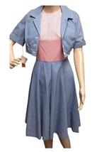Vintage Gingham Bolero Dress Red Check Swing Rockabilly Retro  Square Da... - $99.78