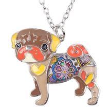 Necklaces Pendant Dog Pug Animal Zinc Alloy New Female Fashion Jewelry Accessory image 3