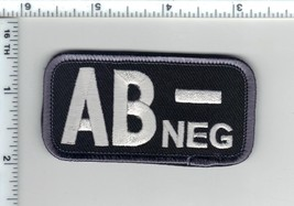AB-NEG (Negative) Blood Type Usa Medic Army Swat Patch W/ Velcro® Brand Fastener - $24.96
