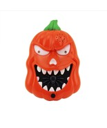 Halloween LED Flashing Pumpkin Doorbell Trick or Treat Talking Jack O La... - $9.49