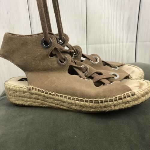 Steven by Steve Madden platform lace-up leather sandals- Size 8.5 Retail $69.95