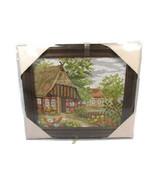 Gobelin Wolle Rodel Ideal Gift Village Scene Photo Handicraft Kit Wood F... - $45.04