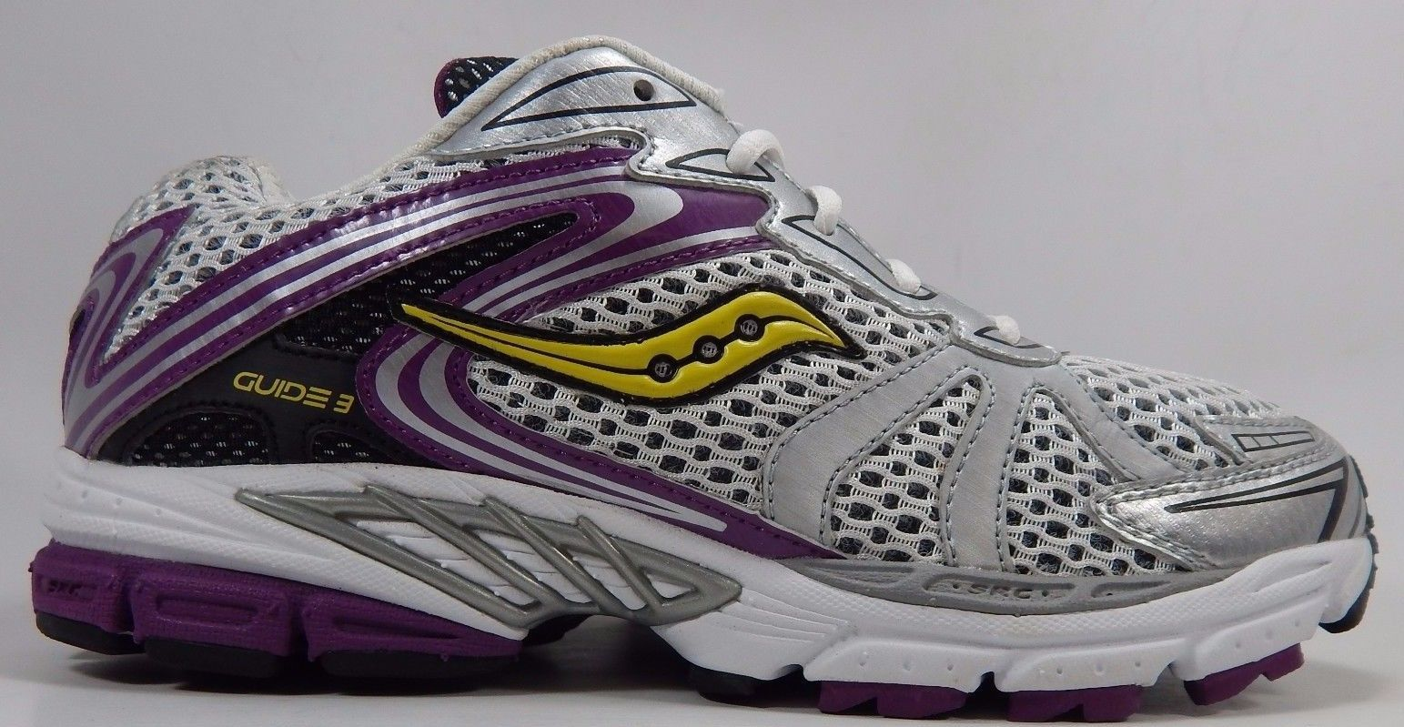 Saucony Guide 3 Girl's Youth Shoes Size US 7 M (B)  (7 Y) EU 39.5 Silver 80019-4