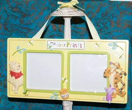 Disney's Winnie the Pooh Picture Frame MY FIRST PRINTS with Tigger & Pig... - $15.24
