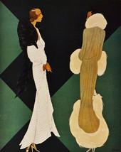 "16x20""Decor poster.Interior design Art.Deco Elegant fashion models.6294 - $17.77"