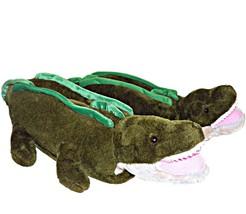 Happy Feet Stuffed Alligator Plush Novelty Slippers Unisex L Women 8-10 ... - $29.99