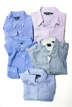 Boss Hugo Boss Ralph Lauren Cotton Button Down Collar Shirts Tops Blue X... - $98.00
