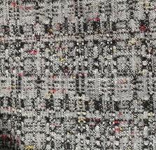 "6.5Yds X 66"" Drapes Upholstery Woven Slub Textured Fabric Grey Black Red... - $118.79"