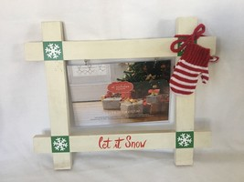 Christmas Holiday Let it Snow Picture Holder Frame - $11.99