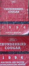 1994 Ford THUNDERBIRD & Mercury COUGAR Service Shop Repair Manual Set Worn - $14.80