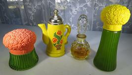 Lot 4 Avon Bottle Field Flowers Cologne Gelee Mist Coffee Pot Foaming Ba... - $50.00
