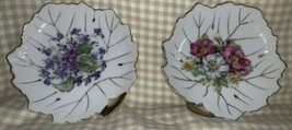 """Leaf Shaped Floral 6"""" X 6"""" Plates Made In Japan - $7.70"""