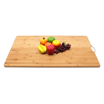 Extra LARGE Carbonised Kitchen Bamboo Cutting Chopping Board With Hook Kitchen C image 2