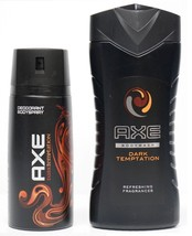 Axe Body Spray Dark Temptation with Axe Dark Temptation Shower Gel 8.45 ... - $14.99