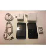 Lot of 2 IPods And 1 Shuffle With Cables And Plugs - $74.25