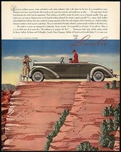 Vintage magazine ad THE LINCOLN automobile 1937 Le Baron Convertible Roadster - $14.99