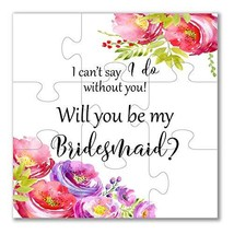 Will you be my Bridesmaid Proposal Puzzle Bridesmaid Gift
