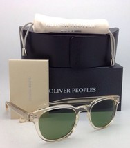 New OLIVER PEOPLES Sunglasses SHELDRAKE OV 5036-S 1580/52 Buff Frame Green Lens